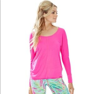Lilly Pulitzer Pink Luxletic Long Sleeve T-Shirt
